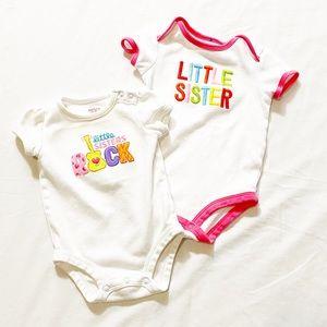 3 for $20 🔥 Little Sister Carter's Onesies 3-9M